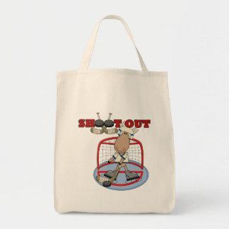 Moose Hockey Shoot Out Tshirts and Gifts Tote Bag