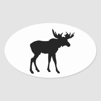 Moose Icon Oval Sticker