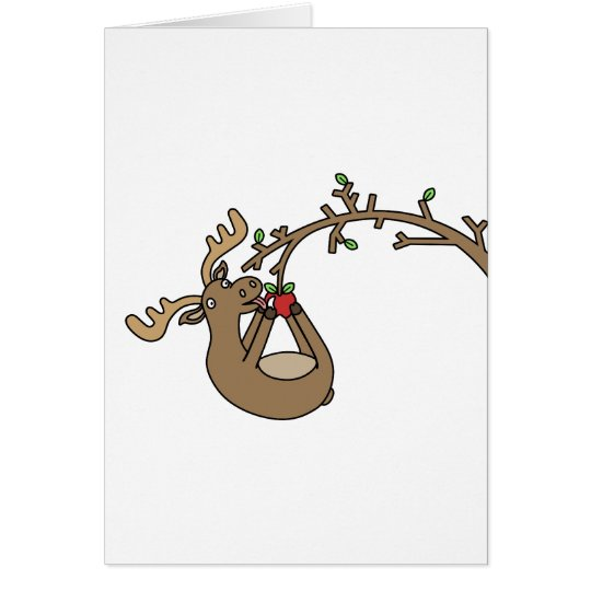Moose in Apple Tree Card