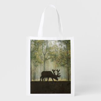 Moose in Forest Digital Art Illustration