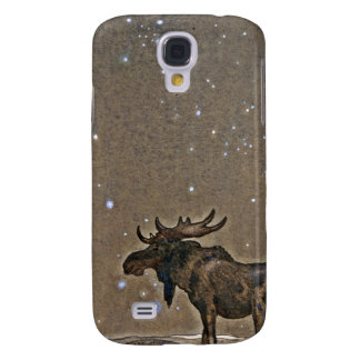 Moose in Snow Galaxy S4 Cover