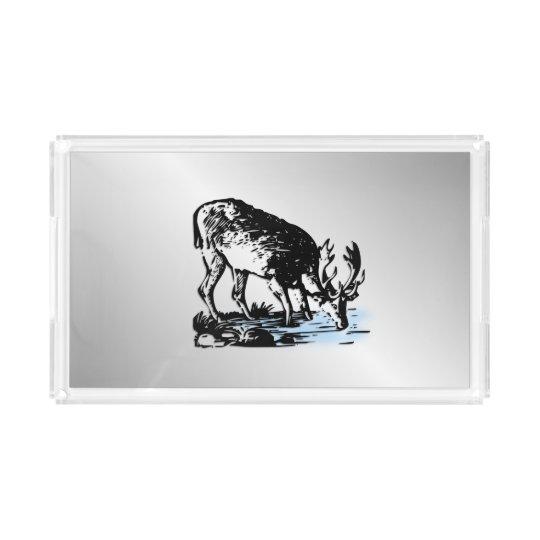 Moose in Stream Acrylic Tray