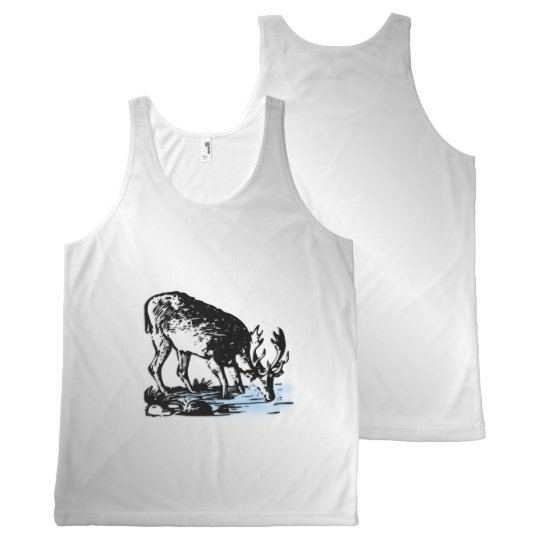 Moose in Stream All-Over Print Singlet
