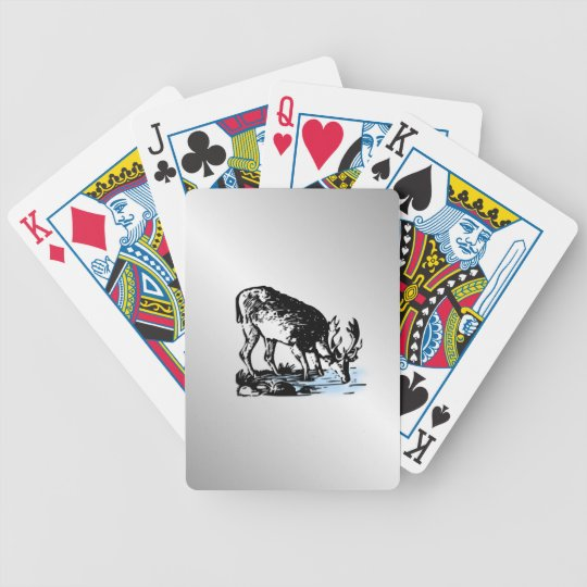 Moose in Stream Bicycle Playing Cards
