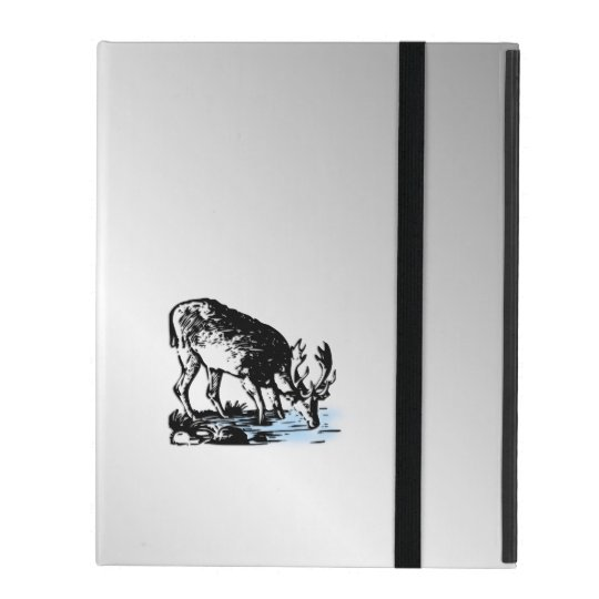 Moose in Stream iPad Folio Case