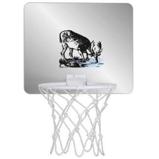 Moose in Stream Mini Basketball Hoop