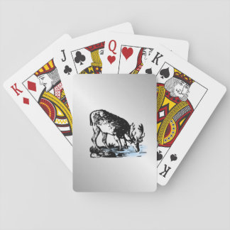Moose in Stream Playing Cards