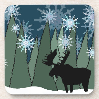 Moose in the Snowy Forest Coaster