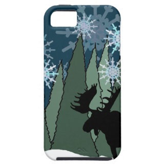 Moose in the Snowy Forest iPhone 5 Case