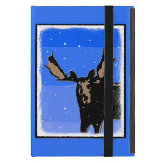 Moose in Winter Covers For iPad Mini