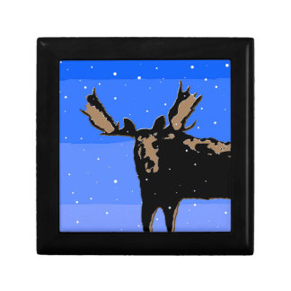 Moose in Winter Gift Box