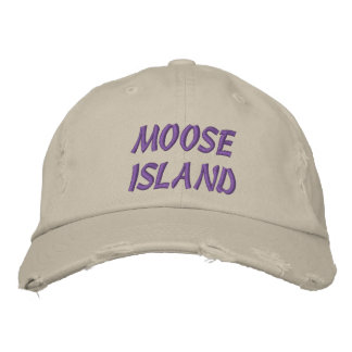MOOSE ISLAND EMBROIDERED HATS