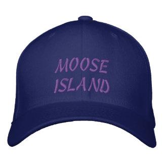 MOOSE ISLAND EMBROIDERED BASEBALL CAPS