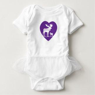 Moose Lamb Love Baby Bodysuit