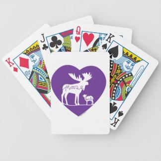 Moose Lamb Love Bicycle Playing Cards