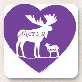 Moose Lamb Love Coaster