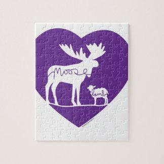 Moose Lamb Love Jigsaw Puzzle