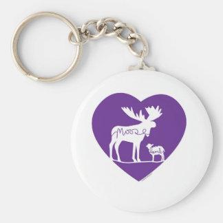 Moose Lamb Love Key Ring