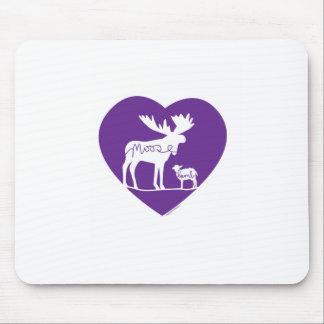 Moose Lamb Love Mouse Pad