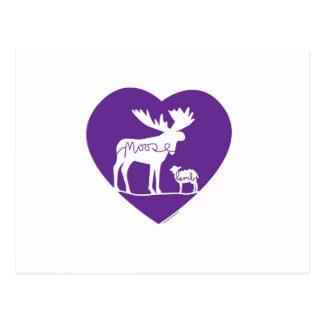 Moose Lamb Love Postcard