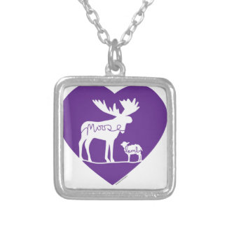 Moose Lamb Love Silver Plated Necklace