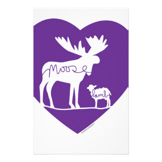 Moose Lamb Love Stationery