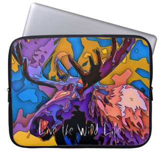 Moose - Live the Wild Life / Laptop Sleeve