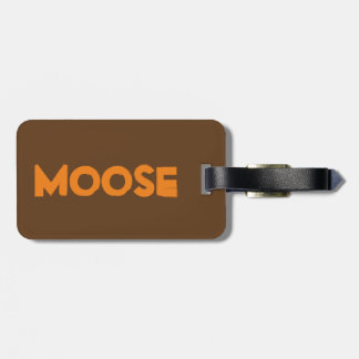 Moose Luggage Tag w/ leather strap