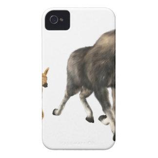 Moose Mom & Baby iPhone 4 Case