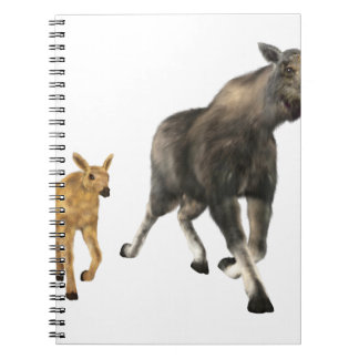 Moose Mom & Baby Spiral Note Books