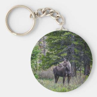 Moose Mother Key Ring