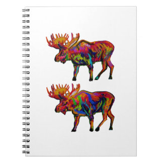 MOOSE OF TWO SPIRAL NOTE BOOK