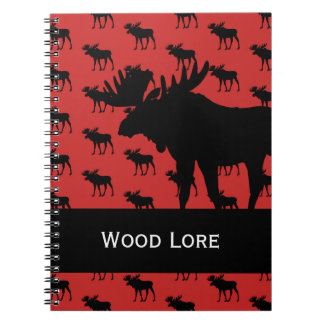 Moose on Red Notebook