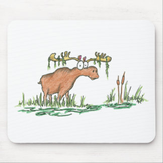 Moose on the loose mouse pad