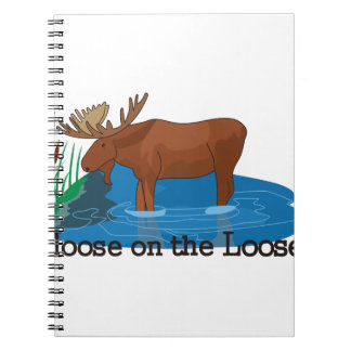 Moose on The Loose Spiral Notebooks