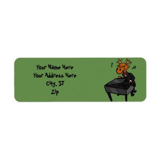 Moose pianist return address label