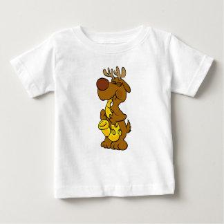 Moose playing the saxophone baby T-Shirt