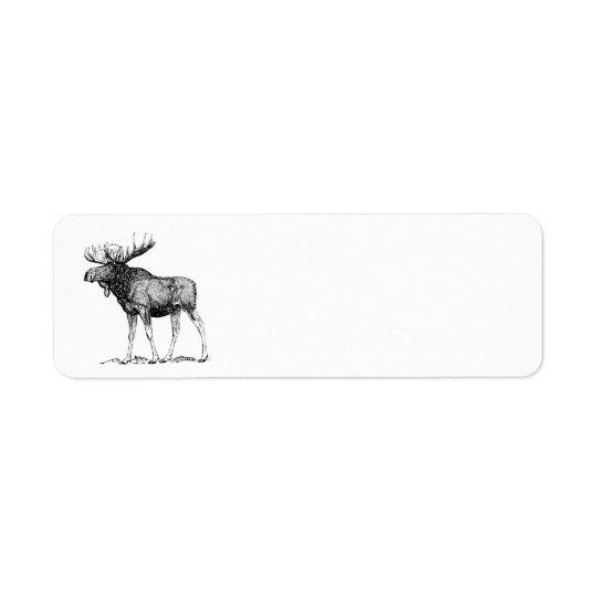 Moose Return Address Label