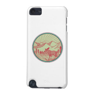 Moose River Mountains Sun Circle Retro iPod Touch 5G Case
