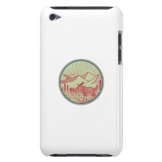 Moose River Mountains Sun Circle Retro iPod Touch Cases