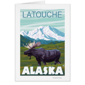 Moose Scene - Latouche, Alaska Card