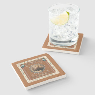 Moose  -Self-Esteem- Marble Coaster