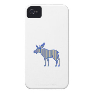 Moose Silhouette Drawing Case-Mate iPhone 4 Cases