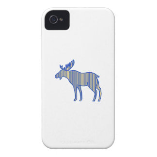 Moose Silhouette Drawing iPhone 4 Case