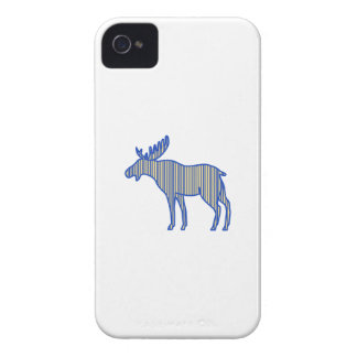 Moose Silhouette Drawing iPhone 4 Case-Mate Case