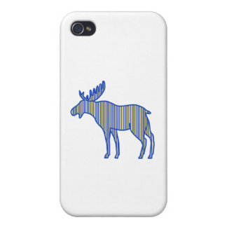 Moose Silhouette Drawing iPhone 4 Cover