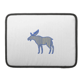 Moose Silhouette Drawing Sleeve For MacBook Pro