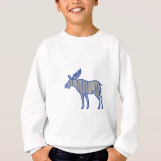 Moose Silhouette Drawing Sweatshirt