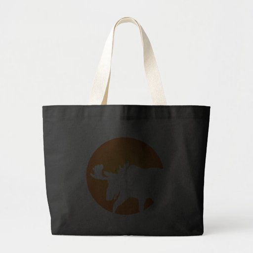 Moose Silhouette Tote Bags
