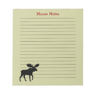 Moose Silhouette with Custom Text Notepad